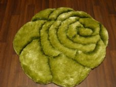 Area Rugs Home 3D Rose Design Small Living Room Bedroom FloorMat New Green Nice